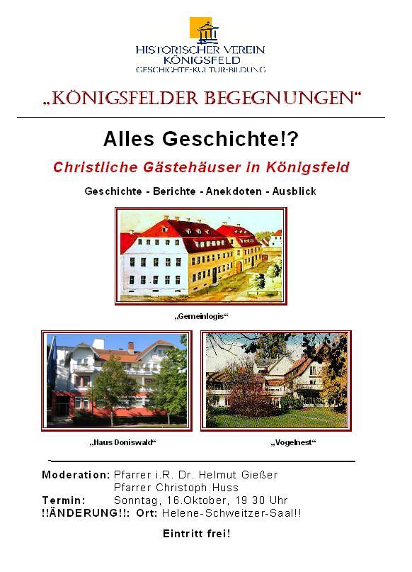 Gästehäuser in Königsfeld