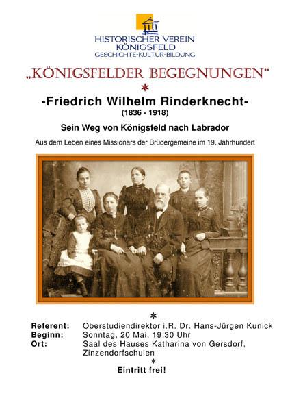 "Plakat ""Wilhelm Rinderknecht"""