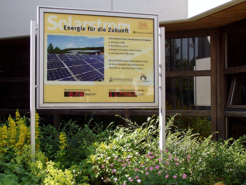 Solarstromtafel-Schule