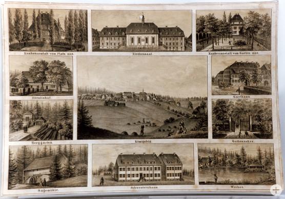 Bildtafel alter Gebäude